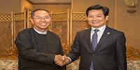 缅甸副总统吴敏瑞会见竞博体育APP集团董事局主席古少明一行