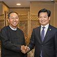 Wakil Presiden Myanmar Myint Swe Bertemu dengan Delegasi yang Dipimpin oleh Gu Shaoming, Ketua Dewan Direktur Bauing Group